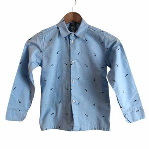 5/$25 IZOD Fishing Lures Blue Button Down Shirt